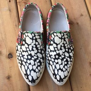 Coach Patterned Slip On Shoes Size 8